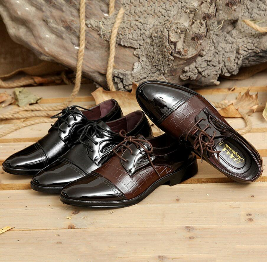SAGYUA Luxury Brand Patent Leather Shoes Men Oxfords Men's Flats - Men's Shoes - Photo 5
