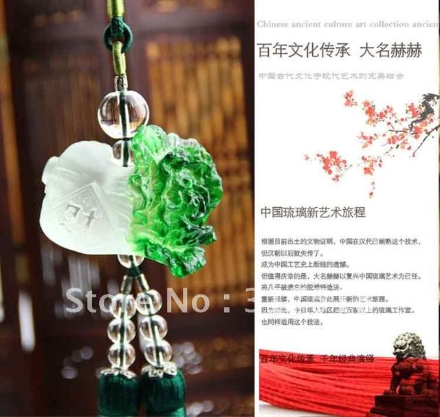 free shipping /Chinese cabbage car pendant/wholesale/retail/coloured glaze/car onament