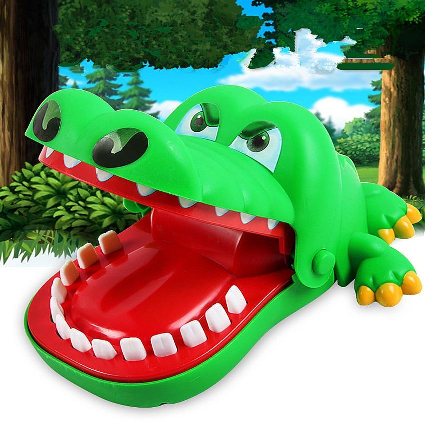Bouche dent Alligator main enfants jouet amusant cadeau Roulette jeu famille astuces mordre main Crocodile dents jouet créatif pratique blague