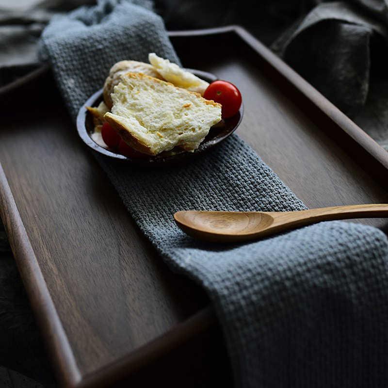 손으로 만든 술 냅킨 코튼 원사 염색 수건 솔리드 홈 웨딩 파티 주방 컵 요리 냅킨 북유럽 스타일