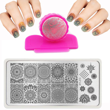 Hot 6X12cm XYJ32 style Nail Art Stamping Plates Metal Plate Image DIY Manicure Printing Template Plate Nail Art Stamp