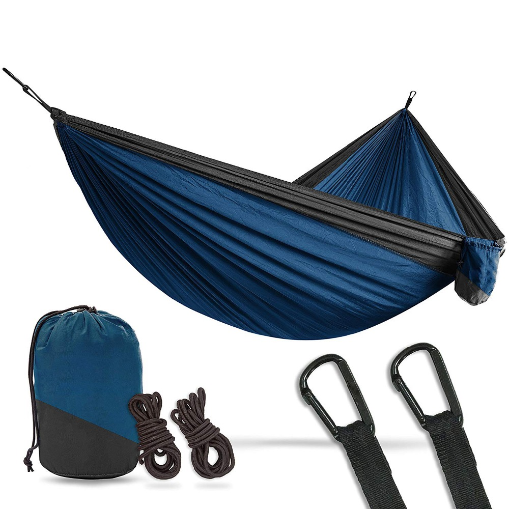 2 Person Double Camping Hammock Xl 10 Foot Nylon Portable
