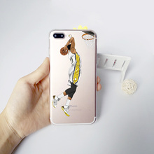 NBA Basketball Stars Lebron James Curry Harden Irving Phone Case iPhone 7 8 6 6S PLUS X 10