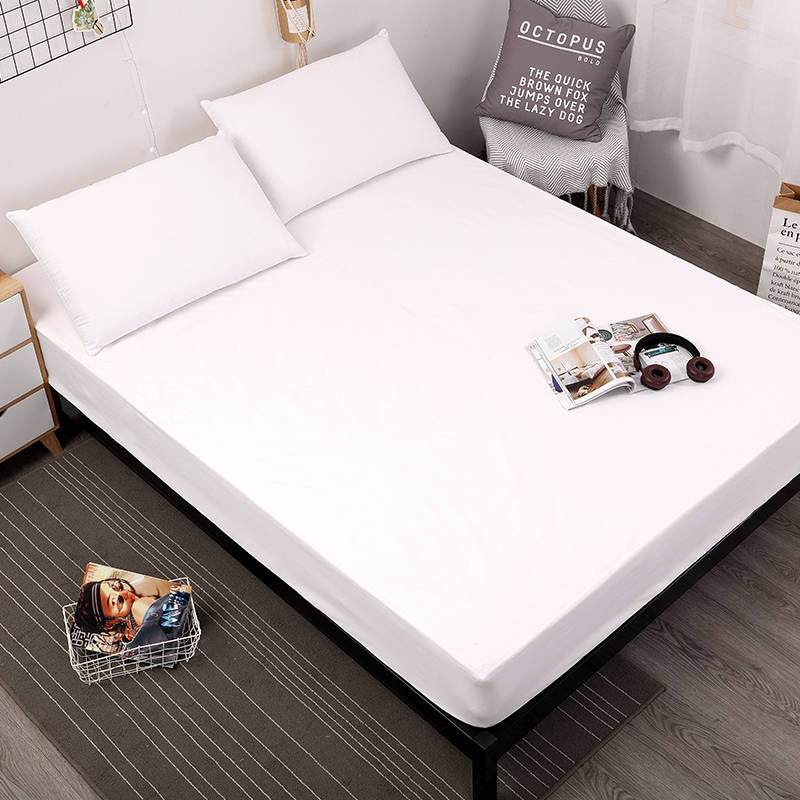 MECEROCK Waterproof Mattress Protector Solid Color Mattress Cover Fitted Sheet Style Separated Water Bed Pad Linens With Elastic