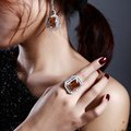 Bridal accessory Hot sales Dress matching AAA Synthetic Cubic Zirconia Cocktail rings for women