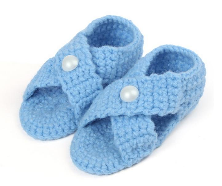 10 Pairs/lot Casual Soft Baby Boys Girls Hollow Out Cross Manual Knit Toddler Shoes Children's Crib Shoes 11cm Wholesale