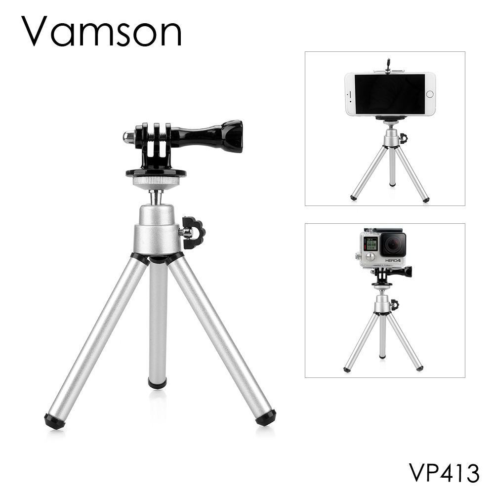 Vamson For Go Pro Accessories Mini Scalable Monopod Tripod For GoPro Hero 8 7 6 5 4 ForDJI OSMO Action For Xiaomi For Yi VP413