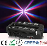 LED Moving Head Spider Light 8x15W 4in1 RGBW Party Light DJ Lighting Beam DMX Lights Stage effects