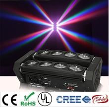 Nueva Cabeza móvil Led Light Araña 8×10 W 4in1 RGBW Led Viga Principal Móvil de la Luz Del Partido de DJ Iluminación luz