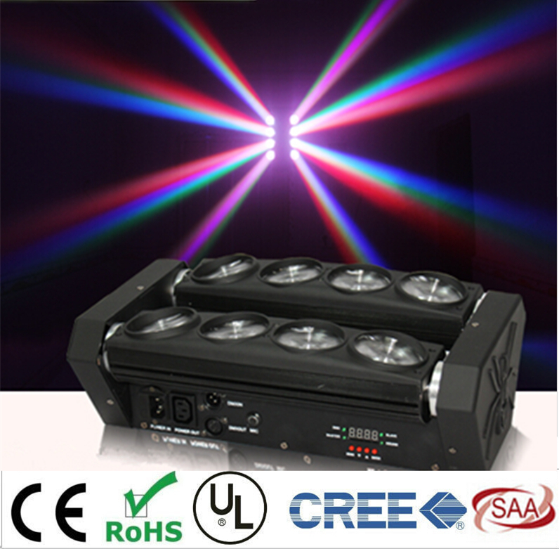 Spider Light Led Moving Head Beam Dj LED Effect Light With 8pcs 8w White Led Lamp