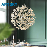 Nordic Led Chandeliers Post Modern Restaurant Creative Cafe Lamp Personality Bar Modern Dining Room Hotel