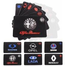 Otomatik araba styling araba Sticker Mat durumda araç telefonu mat Renault Opel için LADA SAAB Alfa Romeo SSANGYONG Abarth tüm araba aksesuarları