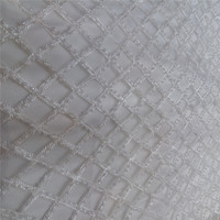 white glass beads embroidery french net lace fabric for wedding dress/evening dress new design mant small beads and pearls