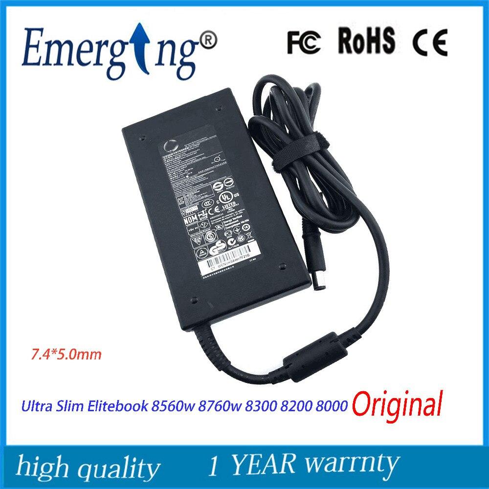 D'origine 19.5 V 7.7A 150 W 7.4*5.0mm AC Ordinateur Portable Adaptateur Chargeur Pour HP Elitebook 8560 w 8760 w 8300 8200 8000 Tout En Un Pc
