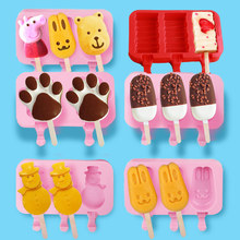 Silicone DIY Ice-cream Mould for with Cover 3 Conjoints Ice Cream Party Moldes De Silicon Para Helados