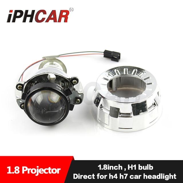 Free Shipping IPHCAR Car Styling Auto Light LHD 46mm or 56mm Mini Bi-xenon Projector farol Lens for H1 H4 H7 Headlight