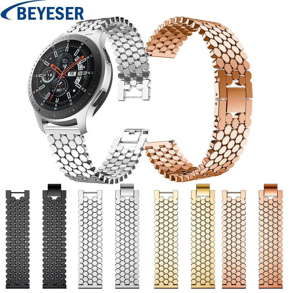 22mm Milanese Loop Band For Samsung Gear S3 Classic/S3 Frontier Band Stainless Steel Strap For Samsung Galaxy Watch 46mm Strap