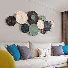 Европейские настенные украшения из кованого железа, креативная спальня, трехмерная гостиная, диван