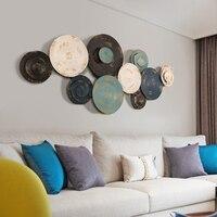 European wall hanging wrought iron decoration Creative bedroom three dimensional living room sofa