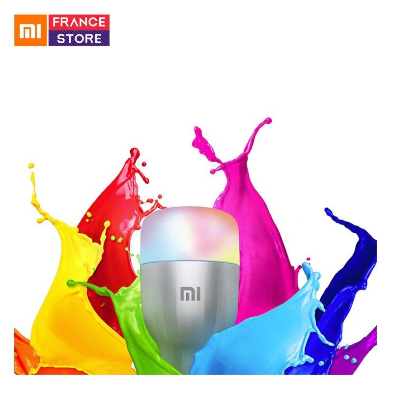 English Version Xiaomi Mi LED Smart Colorful Bulb WiFi Remote Control E27 10W 800 Lumens Smart Lamp For Mi Home App