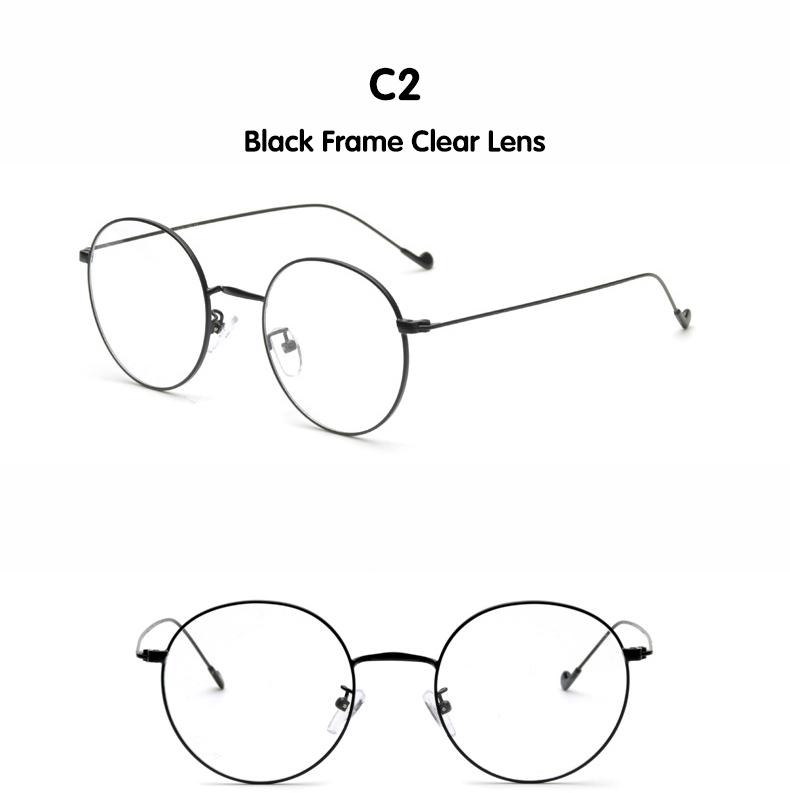 88249ef1e3a DIDI Anti-Radiation Small Round Clear Eyeglasses Women Men Metal Thin  Optics Anti-Fatigue Prescription Frames Circle Lens W592. 1 2 3 4 5 ...