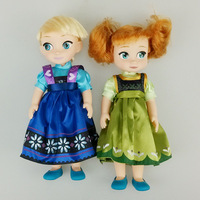 2pcs Snow Queen Young Toddler Elsa And Anna Sisters Princess In Childhood Dolls Figure Toys Bonecas