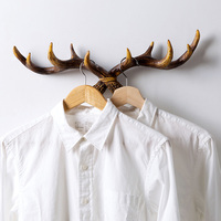 Personality antlers Decorative hooks hangers Resin Wall Shelf for towel key clothing handbag holder Home decoration