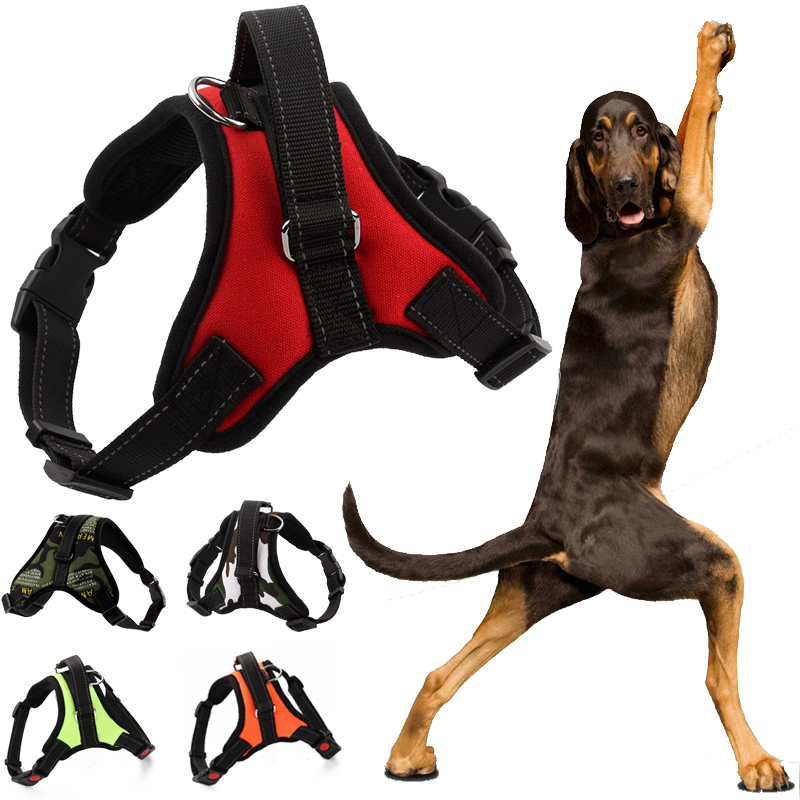 K9 Dog Harness Adjustable Nylon No Pull Vest For Big Large Leash L Medium Pet Supplies