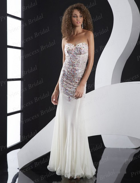 Free Shipping Charming Fishtail Sweetheart Floor Length Mermaid ...