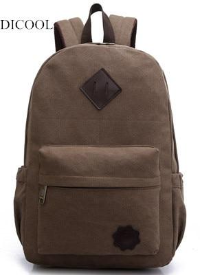 DICOOL mode sac à dos en toile alpinisme sacs à dos pour hommes 2017 emballages scolaires sacs de voyage unisexe un sac à bandoulière