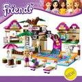 Los Bloques huecos Fijaron Amigos 442 Unids Bela Brinquedos Figuras Piscina BRICOLAJE Ladrillos Juguetes para Niñas 10160