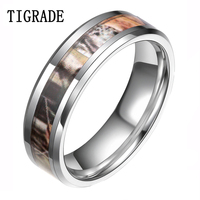 6/8mm Camou flage Camo Tungsten Ring Mode-sieraden Vrouwen Mannen Wedding Engagement Band Belofte Ringen Voor Party groothandel