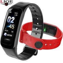 New IP67 Waterproof Sports Watch Men Women Smart bracelet  LED Color Touch Screen Blood Pressure Sleep Monitor Smart Wristband