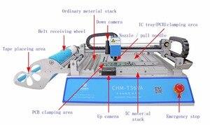 Image 5 - SMT خط الإنتاج: CHM T36VA الرؤية ماكينة استبدال المكونات باستخدام تقنية التركيب السطحي chmt36va + 3040 طابعة الرسومات المثقوبة + إنحسر الفرن T962A