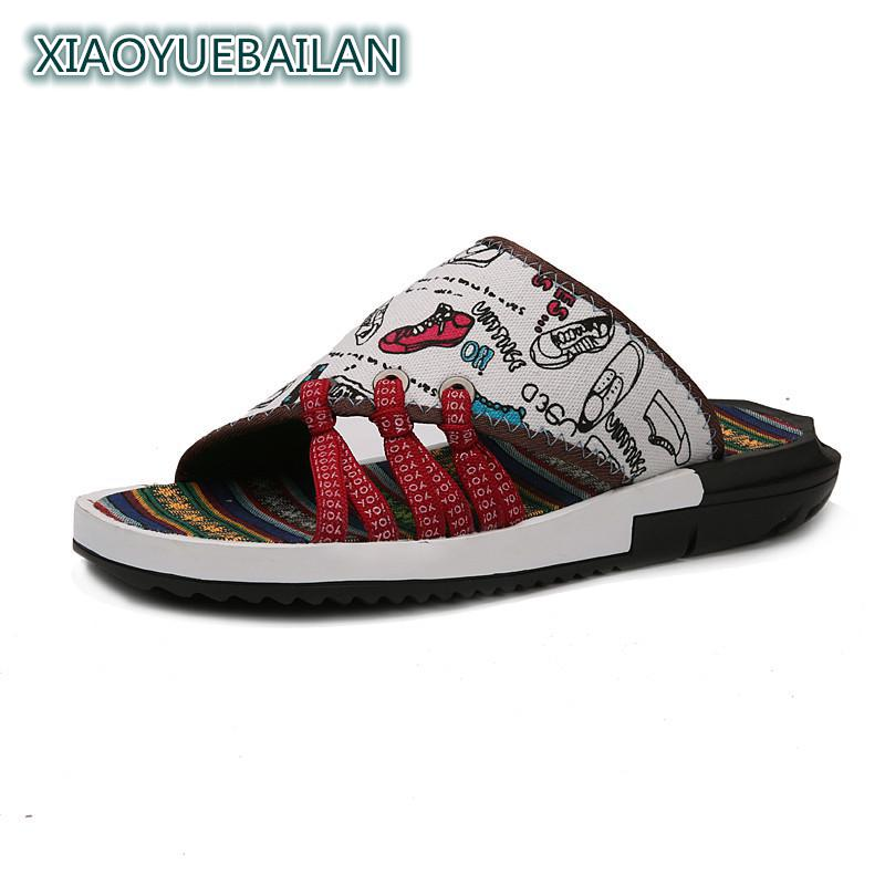 Mens New Style Of Summer Ventilation, Word Drag, National Style, Retro Trend