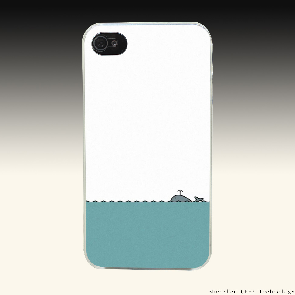 9R A Simple Style The Shark Hard Clear Case Transparent Cover for iPhone 4 4s 5 5s SE 6 6s 7 Plus