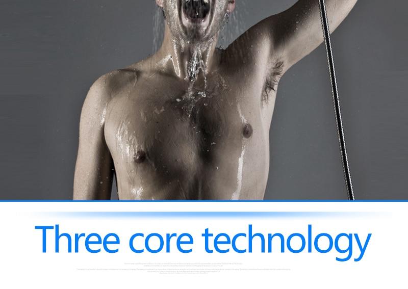 Bathroom 2 Way Hot Cold Brass Diverter Multifunctional Shower Kits Air Pressurized High Pressure Water Saving Shower Head Set (10)