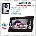 """Беспроводной 7 дюймов фото - фото-памяти видеодомофон домофонные системы ( беспроводной 7 """" LCD + сфотографироваться разблокировать + ночного видения )"""