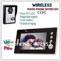 Wireless 7inch Photo Memory Video Intercom Door Phone System Wireless 7 LCD Take Photos Unlock Night