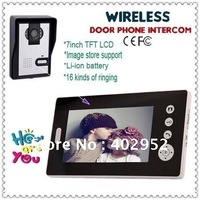 Wireless 7inch Photo Memory Video Intercom Door Phone System Wireless 7 LCD Take Photos Unlock Night