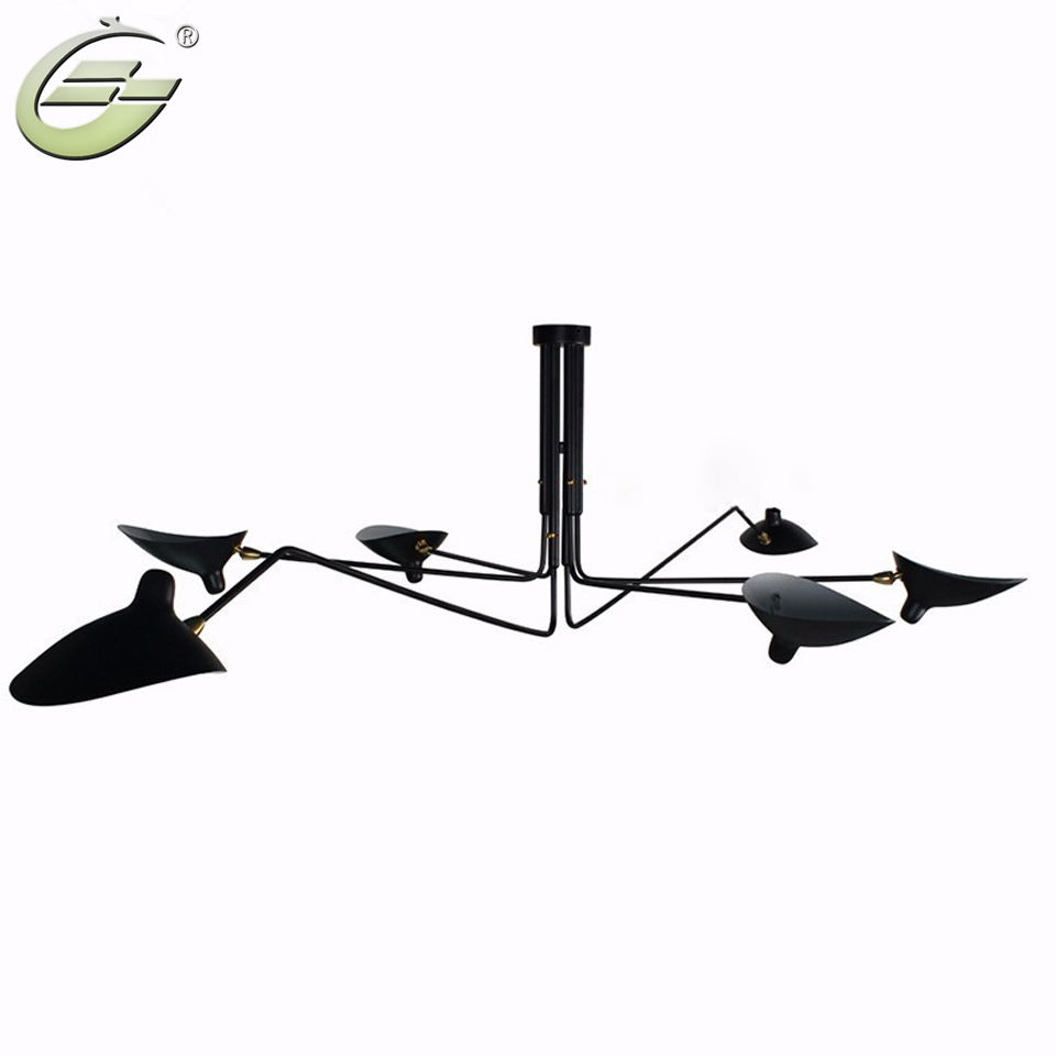 Home Decor Vintage Iron Loft Ceiling Lamp Three Arms Ceiling Lights Lighting Free Shipping
