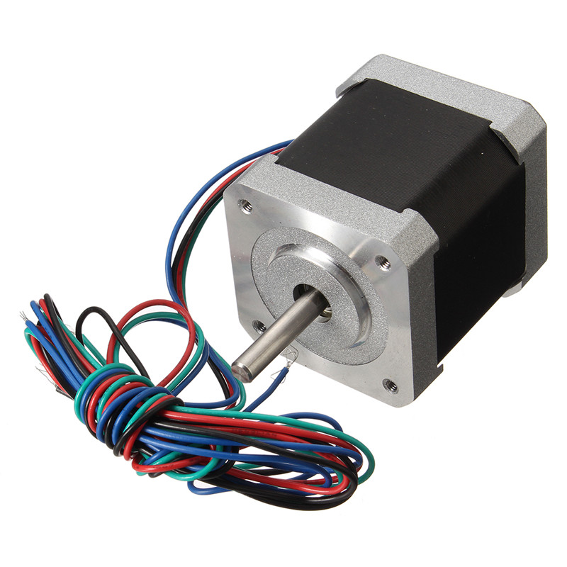 1pc 42HM48-1684 0.9 Degree 42mm 2phase Hybrid Stepper Motor NEMA17 Bipolar Step Motor Single Shaft 1.68A CE ROHS Hot 0 9 step degree nema14 round stepper motor with 8 8n cm 12oz in length 20mm ce cnc step motor