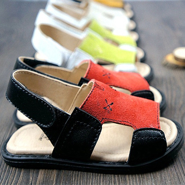 New Genuine leather Baby sandals Baby boys girls Beach sandals Baby toddler shoes Baby Moccasins Free shipping