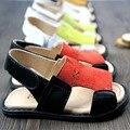 Nova de couro Genuíno sandálias Do Bebê Do Bebê das meninas dos meninos da Praia sandálias Do Bebê Bebê criança sapatos de Bebê Mocassins Frete grátis