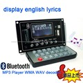 Do bluetooth Audio Receiver 12 v placa de decodificador de áudio MP3 Player WMA WAV Rádio FM para Amplifier speaker
