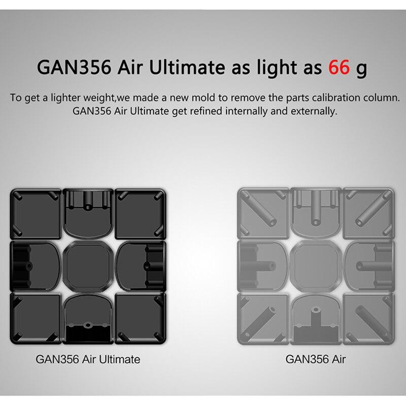GAN356 Cube magique ultime de l'air 3x3x3 Puzzle de vitesse GAN 356 Air U Version Cube de compétition jouets éducatifs 56mm - 3