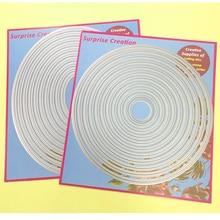 2-Set большие резные штампы пирсинг круг & Овальный кардмейинг & Скрапбукинг DIY трафарет