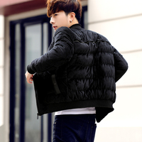 High quality Cotton Tide Male Winter Fashion Leisure Time Cotton padded Clothes Teenagers Student Cotton padded Jacket 9811 P90