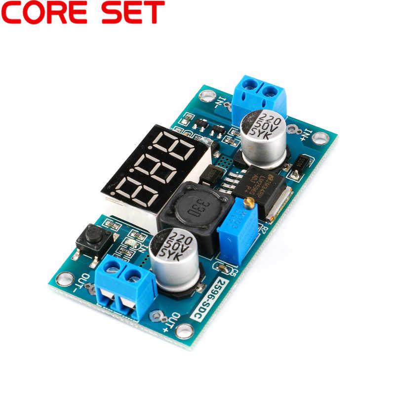 DC-DC قابل للتعديل الجهد منظم LM2596 DC/DC 4.0 ~ 40 V إلى 1.25-37 V باك التنحي وحدة مع LED الفولتميتر