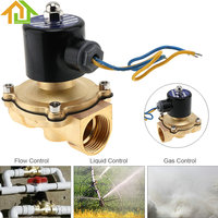 1 DC 12V Brass Body Electric Solenoid Valve Pneumatic Valve for Water / Oil / Gas